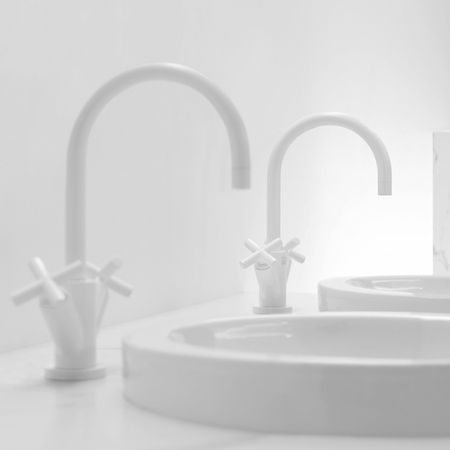 Shelterblog Architects Notebook Singlehole Bathroom Faucets - White bathroom faucet fixtures
