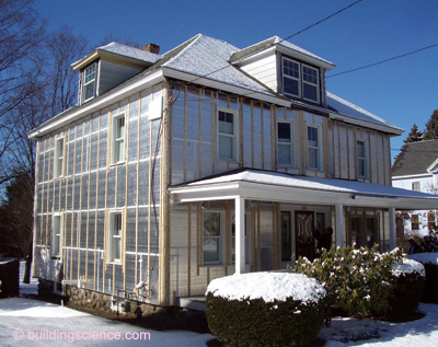 Shelterblog A Green House For Earth Day - Insulating exterior walls in old homes